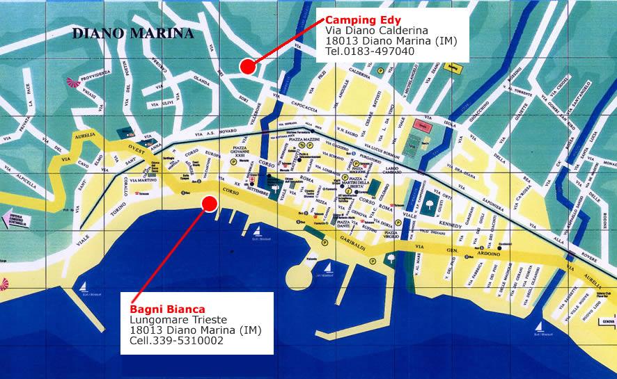 Liguria Camping with beach Diano Marina Imperia Bagni Bianca Liguria